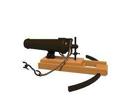 Cannon 3D asset
