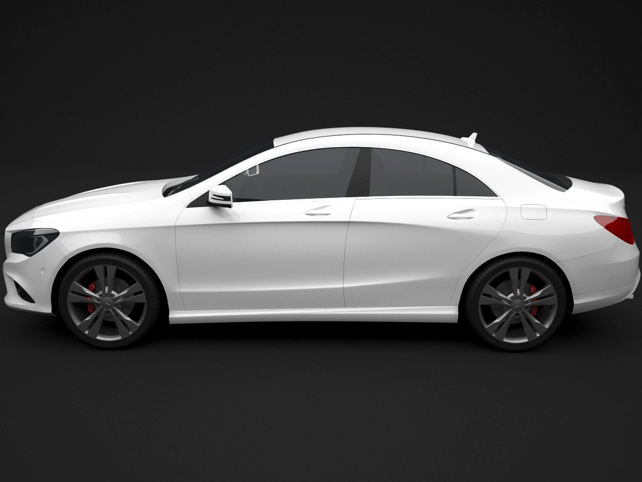 Mercedes cla 2014 4 door 3d model max for Mercedes benz cla 2 door