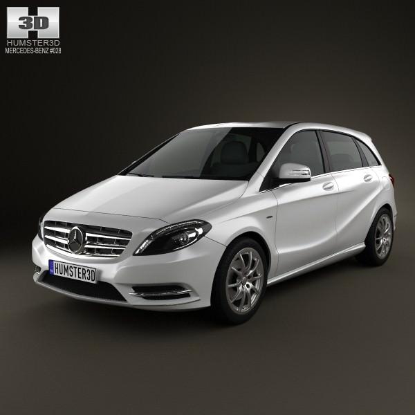 Mercedes benz b class 2012 3d model max obj 3ds fbx c4d for Mercedes benz 2012 models
