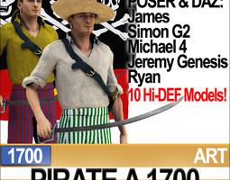 Pirate Props Poser Daz A 1700 3D Model