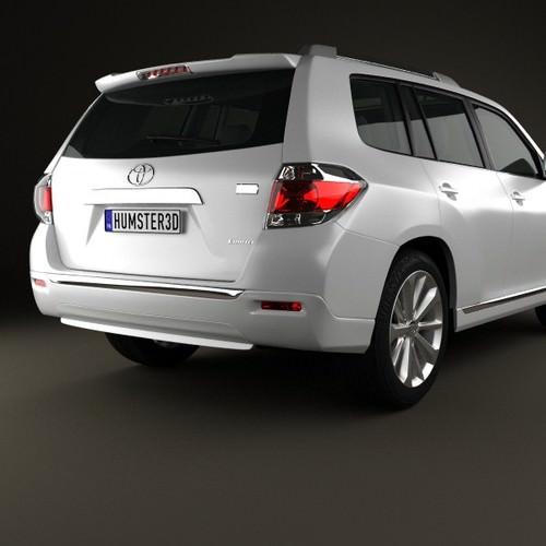 Hybrid Toyota Highlander: Toyota Highlander Kluger Hybrid 2011 3D Model MAX OBJ 3DS