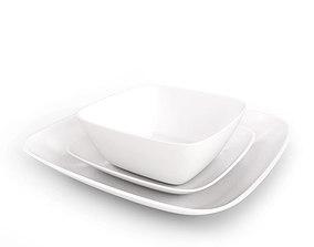 Square Plate Set 3D