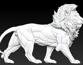 king safari lion statue 3D printable model