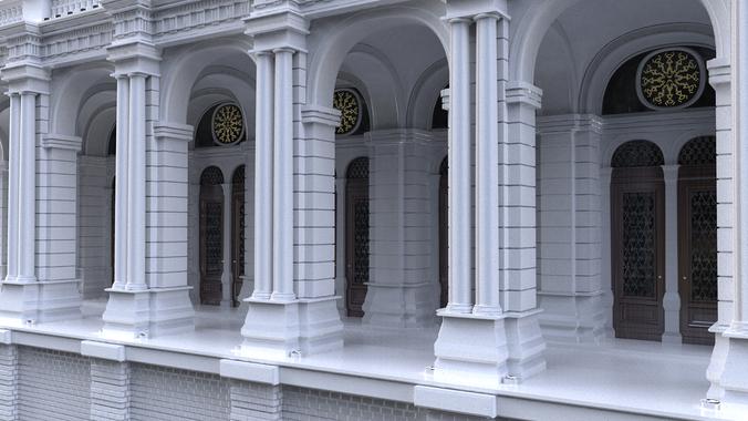 Simple Building3D model