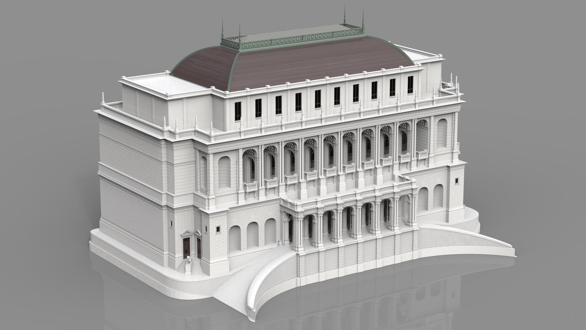 Simple Building 3d Model Max