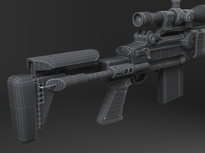 M14 EBR sniper rifle 3D Model .max .obj .3ds .fbx .c4d ... M14 Ebr Sniper Rifle