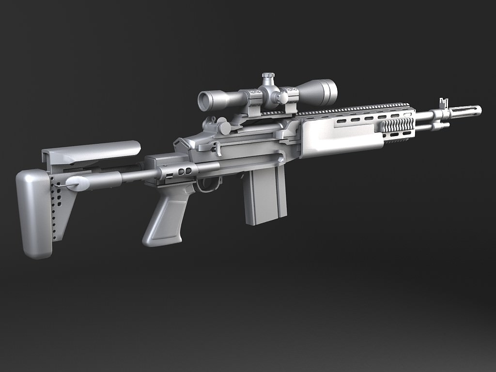 M14 EBR sniper rifle 3D Model .max .obj .3ds .fbx .c4d ... M14 Ebr Sniper Rifle