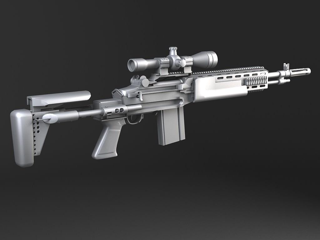 M14 EBR sniper rifle 3D Model .max .obj .3ds .fbx .c4d ... M14 Ebr Rifle