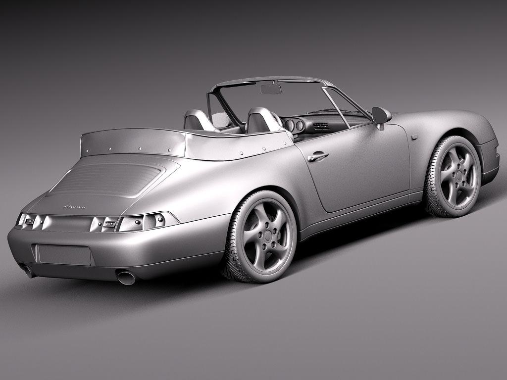 porsche 911 993 carrera cabrio 1994 1997 3d model max obj 3ds fbx c4d lwo lw lws. Black Bedroom Furniture Sets. Home Design Ideas