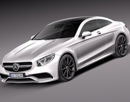 Mercedes-Benz S63 AMG Coupe 2015 3D Model