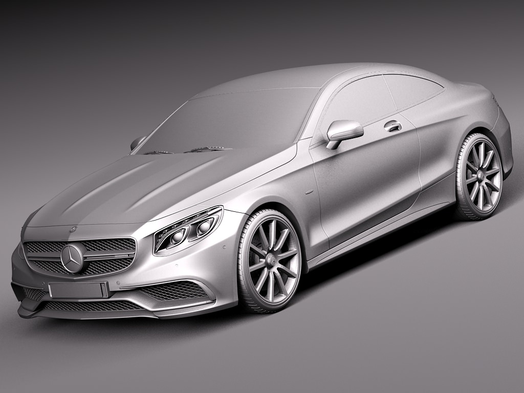 Mercedes benz s63 amg coupe 2015 3d model max obj 3ds for Mercedes benz 2015 models