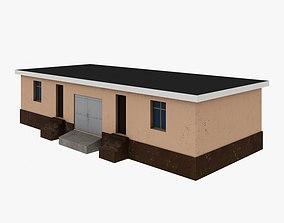 3D model Decrepit house low poly