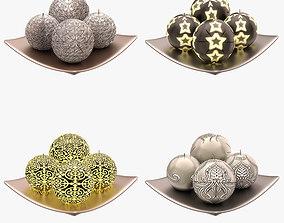 3D asset Decorative Candle Set