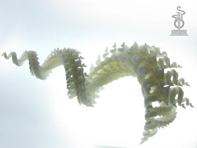 spiralling spirals 3d printable fractal 3d model stl 1