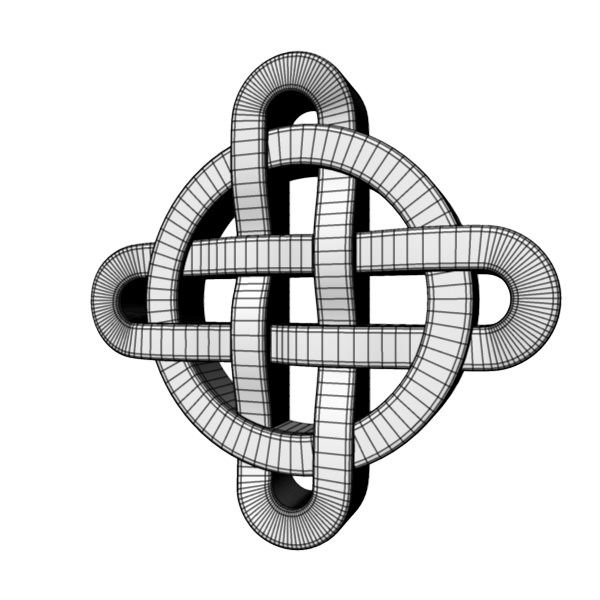 3d Model Celtic Knot 3 Cgtrader