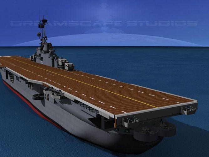 Essex Class Aircraft Carrier CV-9 USS Essex3D model