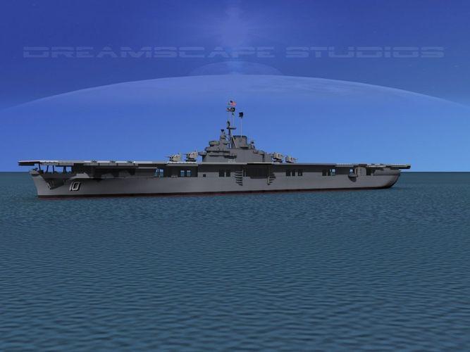 Essex Class Aircraft Carrier CV-10 USS Yor...3D model