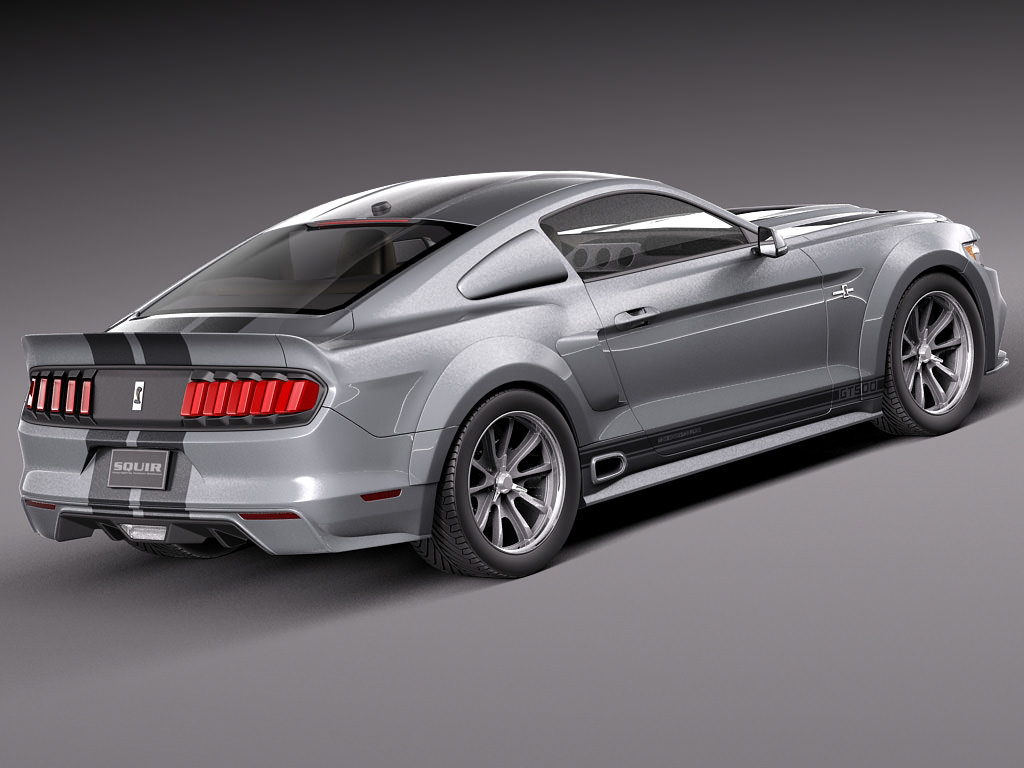 ford mustang gt500 eleanor 2015 3d model. Black Bedroom Furniture Sets. Home Design Ideas