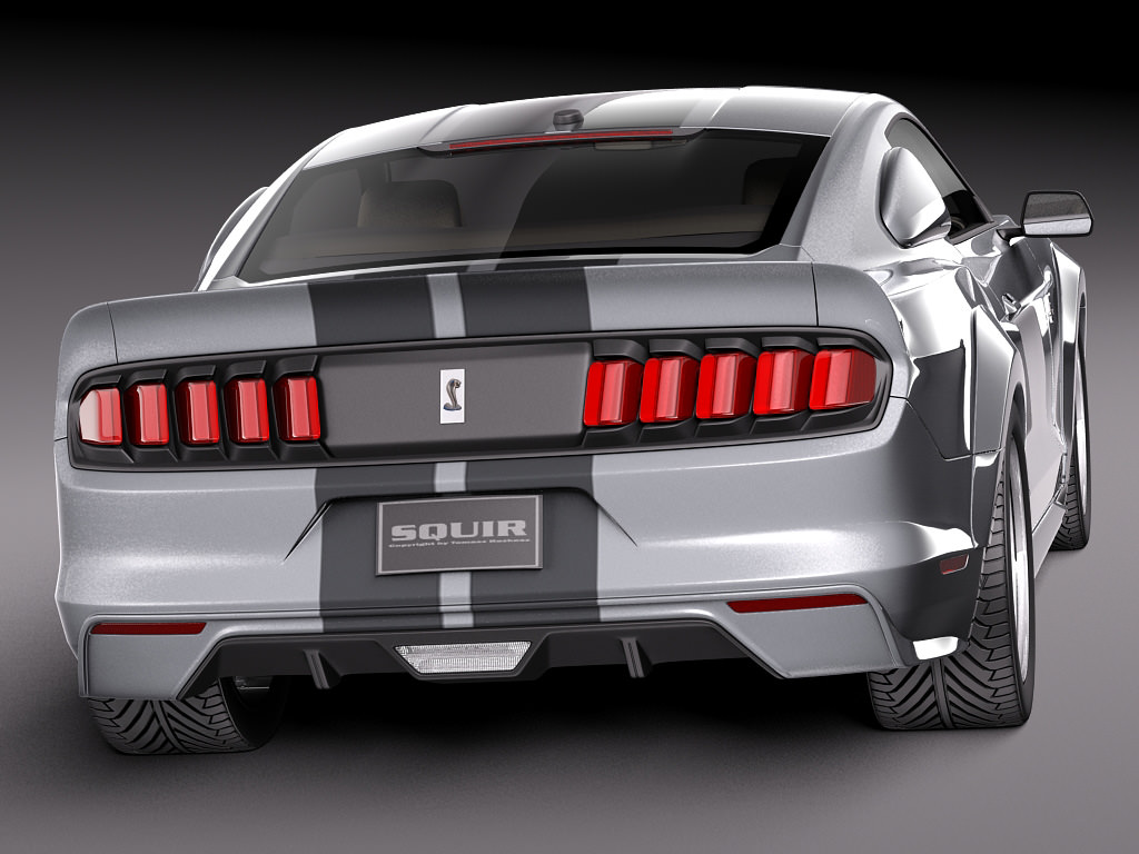 Ford mustang gt500 eleanor 2015 3d model