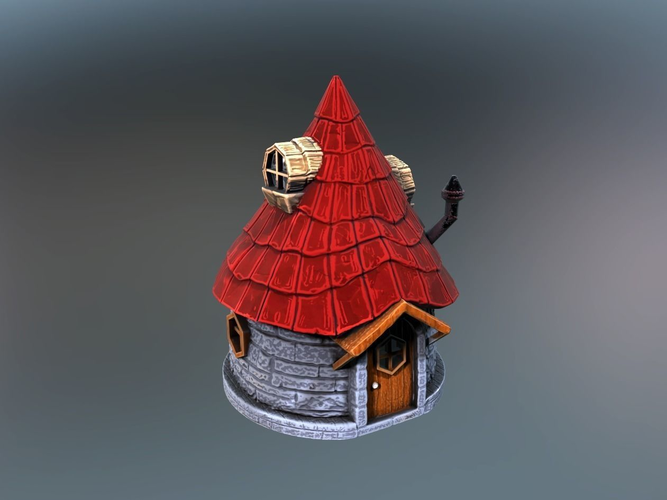fairy hut 3d model stl 1
