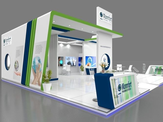 3d Exhibition Stall Design Job : Exhibition stall d model mtr sides open pharma