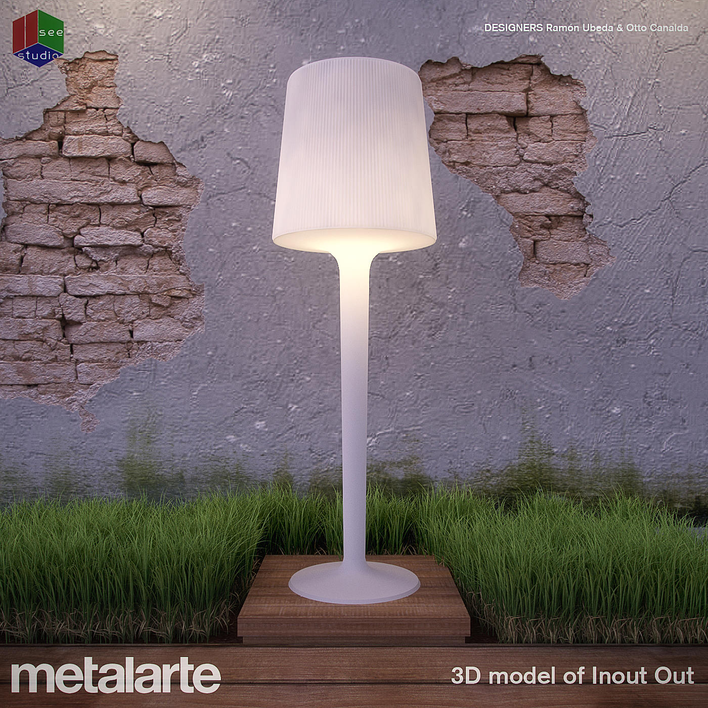 Garden Lamp 3d Model: Metalarte Inout Out Lamp 3D Model