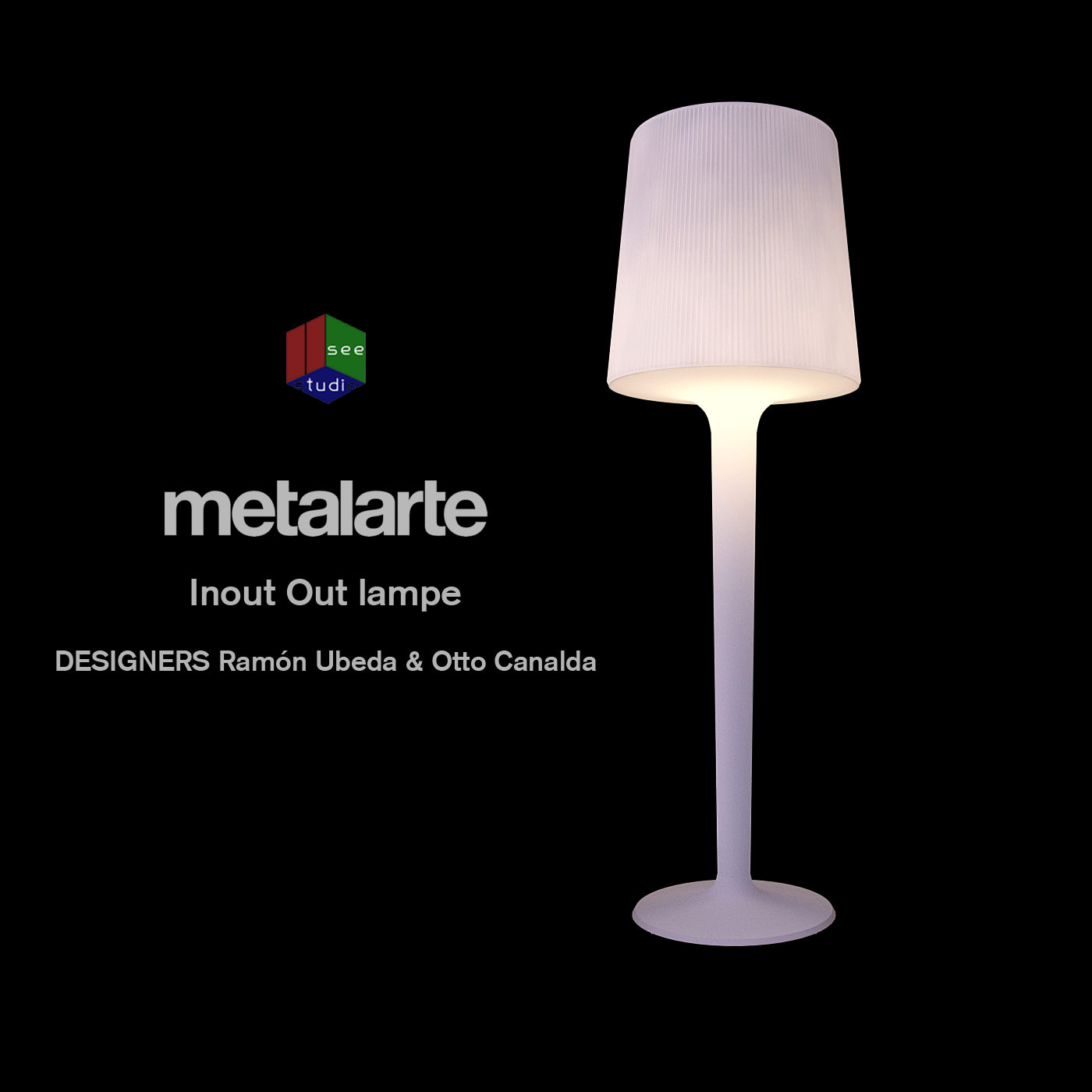 Metalarte Inout out lamp free 3D Model x CGTrader