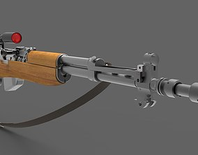 3D Semi-automatic rifle with optical sight