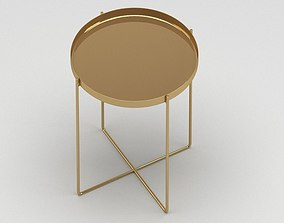 Golden metal table 3D model