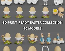 20 Easter Theme Models 3D Model