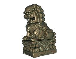 lion statue 3d printable model