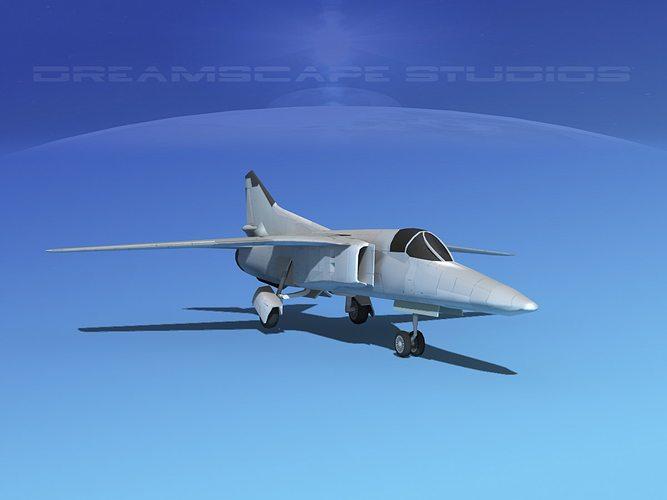 mig-27 fighter lp bare metal 3d model low-poly max obj lwo lw lws dxf stl dae 1