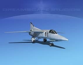 3D model Mig-27 Fighter LP Bare Metal