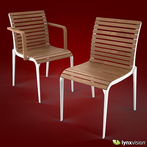 Alias Teak Chair And Armchair By Alberto Meda 3d Model