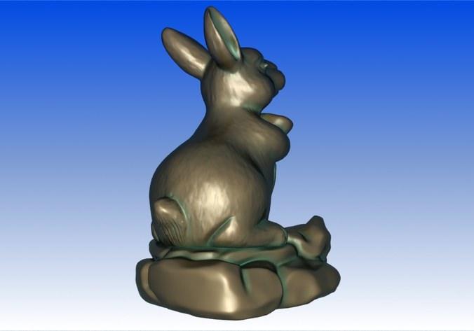 Zodiac Rabbit 3d Model 3d Printable Max Obj Stl