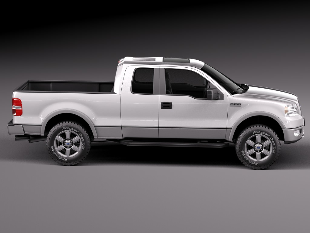 ford f150 extended cab 2004 2007 3d model max obj 3ds. Black Bedroom Furniture Sets. Home Design Ideas