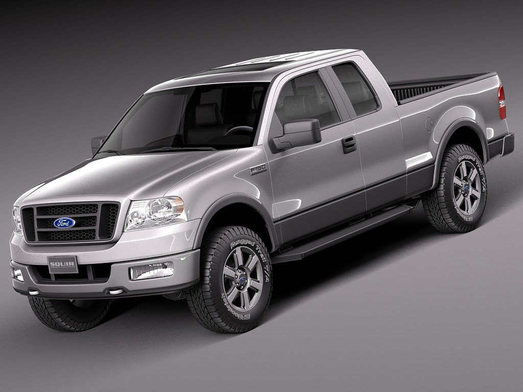 ford f150 extended cab 2004 2007 3d model max obj 3ds fbx c4d lwo lw lws. Black Bedroom Furniture Sets. Home Design Ideas