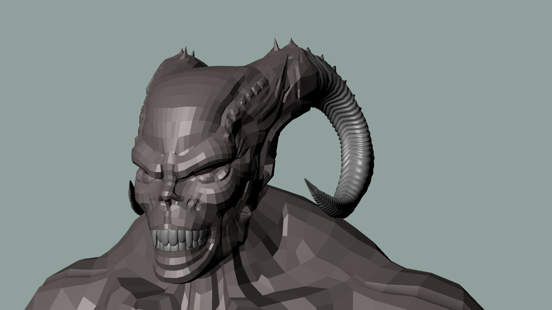 Monster 3d model game ready ma mb for Monster 3d model