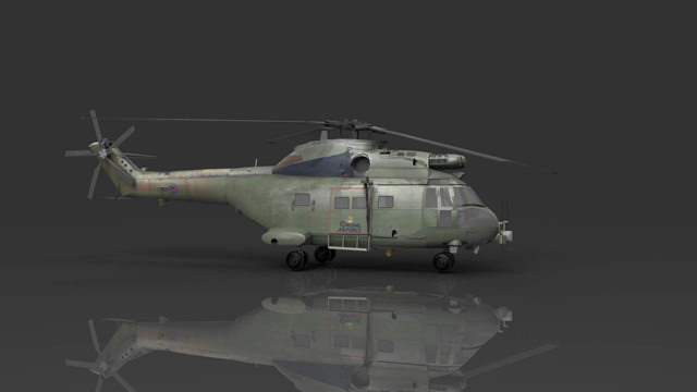 RAF Puma HC1 Helicopter3D model