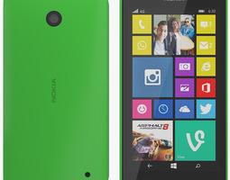 3D model Nokia 630 green