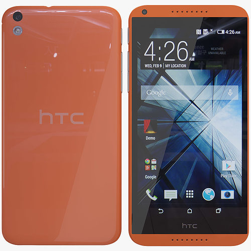 htc desire 816 orange 3d model max 1