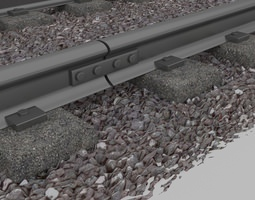 Train Subway Rail 3D