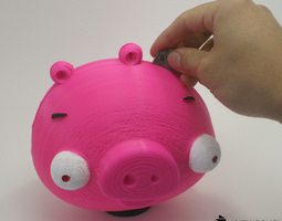 AngryBird's Piggy Bank 3D Model