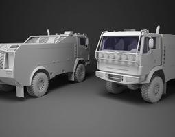 3D asset Dakar Truck
