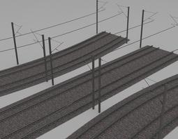 3D Electrified train line