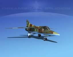 3D model rigged Mig-27 Flogger LP Ukraine