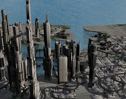 Quantum Mega City 3D Model