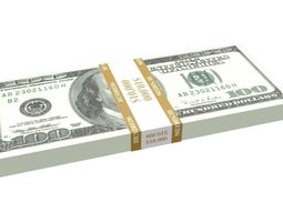 Stack of Hundred-Dollar Bills 3D model