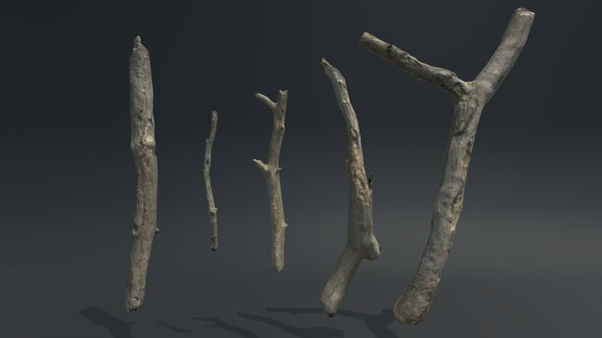 sticks vol 1 3d model low-poly fbx 1