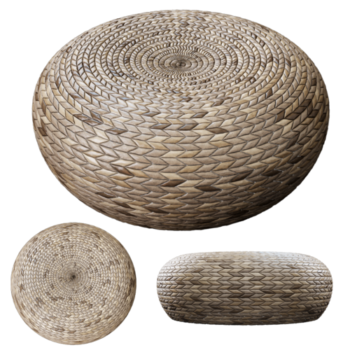 Rattan Pouf Free 3d Model Max Cgtrader Com